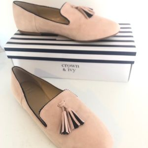 CROW & IVY Pink with Tassel Flats Loafers